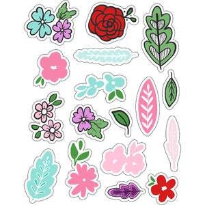 ml flowers and leaves sticker