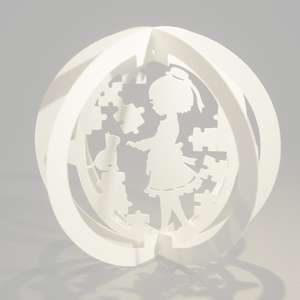 one layered pop up sphere puzzle