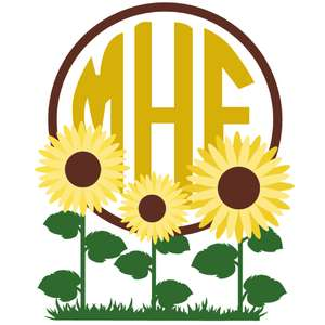 sunflower field monogram