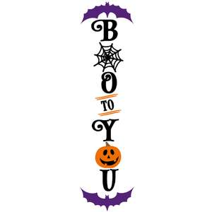 boo to you vertical sign