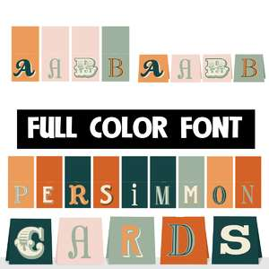 persimmon cards color font