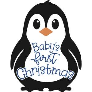 baby's first christmas penguin boy