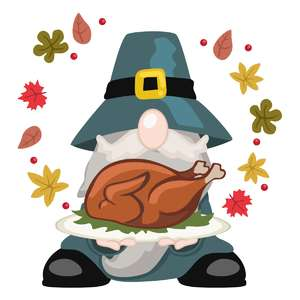 gnome with turkey