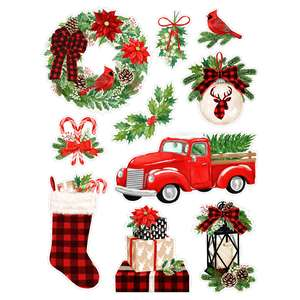rustic christmas stickers