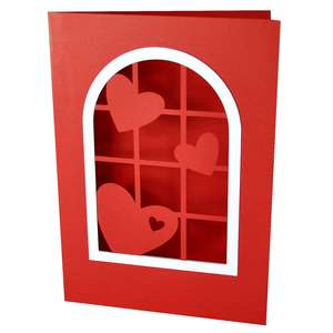hearts window card