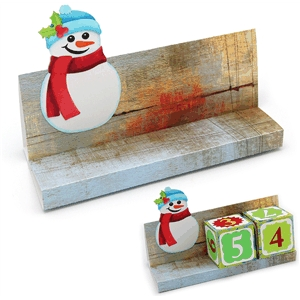 advent calendar block stand snowman