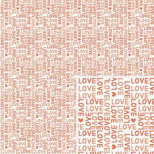 love & heart pattern