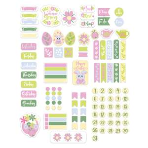 spring easter planner stickers