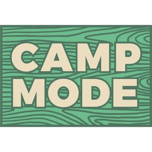 camp mode wood grain sign