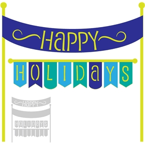 'happy holidays' banner