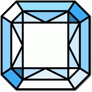 stained glass radiant square gem