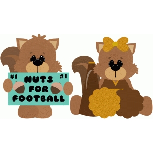nuts for football squirrels sign cheerleader