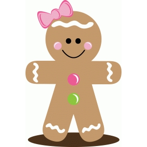 christmas gingerbread girl