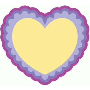 scallop heart card
