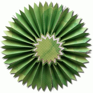 3d pointed accordion wall circle