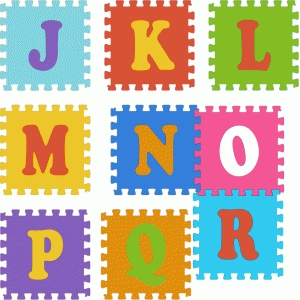 puzzle pieces alphabet j-r