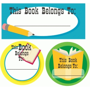 'this book belongs to' pnc stickers
