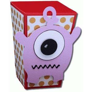 3d monster three popcorn box