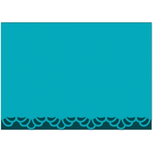 scallop lace border card