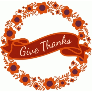 give thanks floral wreath