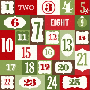 25 days of christmas countdown
