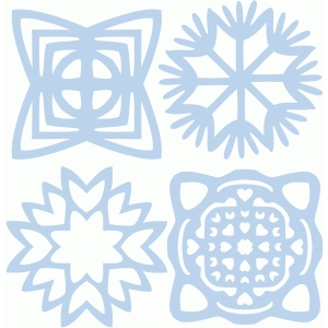 set of four snowflakes part 2