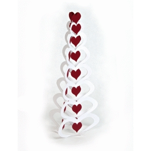 3d stacking heart valentine tree