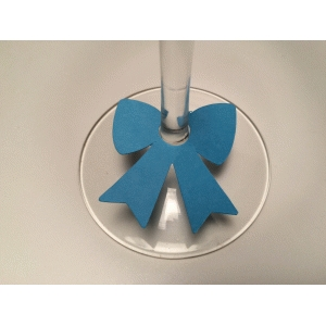 bow wine glass charm