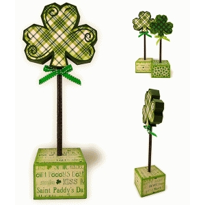 shamrock lrg 3d block stick décor