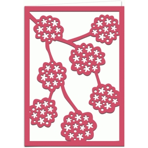 flowering cherry 7x5 greetings card