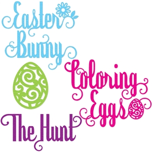 'easter' words set