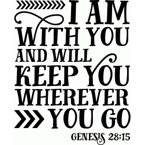 bible phrase: i am with you