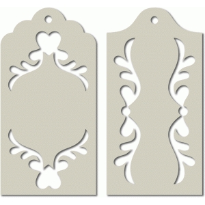 ornate tags