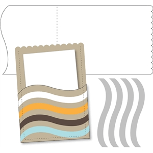 card: scallop wave rectangular