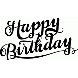 silhouette design store view design 96008 happy birthday calligraphy
