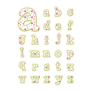 polka dot alphabet - lower case