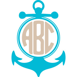 Round Anchor Monogram Frame