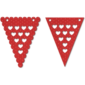 pennant banner - hearts