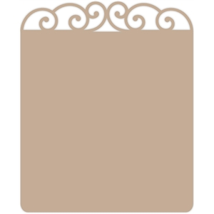 wrought iron note card