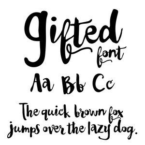 cg gifted font