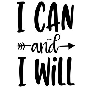 i can and i will arrow quote