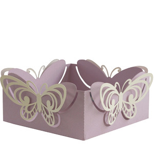 3d butterflies basket
