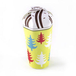 christmas trees hot chocolate cup