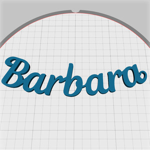 barbara name pendant