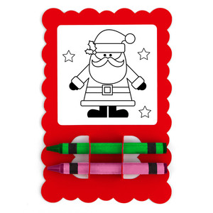 christmas card coloring santa