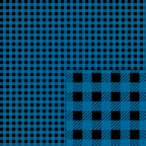 plaid black blue pattern