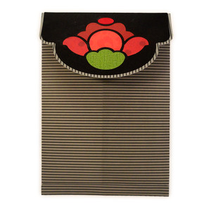rose cut out envelope