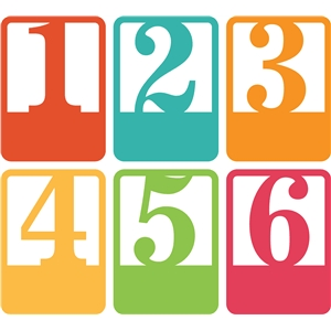 3x4 life cards vertical numbers 1-6