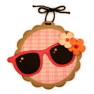 sun glasses flowers ornament