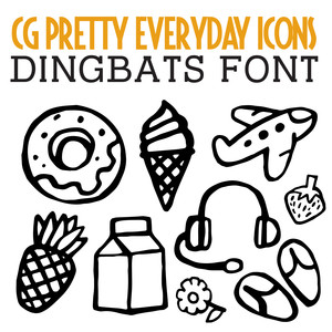 pretty everyday icons dingbats